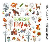 Forest Christmas. Vector Set O...