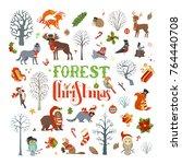 Forest Christmas. Vector Set O...