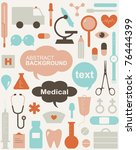 collection of medical themed... | Shutterstock .eps vector #76444399