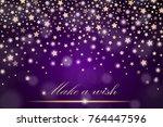 vector abstract shining falling ... | Shutterstock .eps vector #764447596
