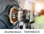 electronic circuit boards of... | Shutterstock . vector #764448214