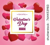 happy valentines day card | Shutterstock .eps vector #764453983