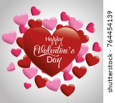 happy valentines day card | Shutterstock .eps vector #764454139