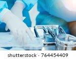medical instruments of doctor...   Shutterstock . vector #764454409