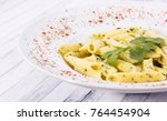 penne with spices close up | Shutterstock . vector #764454904