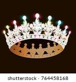 illustration women's gold...   Shutterstock .eps vector #764458168
