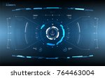 futuristic user interface... | Shutterstock .eps vector #764463004