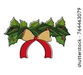 christmas flower design   Shutterstock .eps vector #764463079