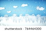 new year paper background.... | Shutterstock . vector #764464300