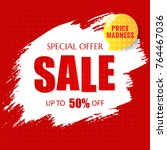 sale poster with text  | Shutterstock . vector #764467036