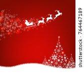 xmas postcard fir tree border... | Shutterstock . vector #764467189