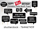set of funny fortieth birthday... | Shutterstock .eps vector #764467459