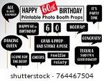 set of funny sixtiethbirthday... | Shutterstock .eps vector #764467504