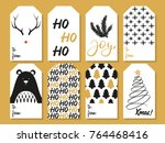 christmas gift tags | Shutterstock . vector #764468416