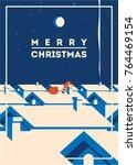 merry christmas minimalistic...   Shutterstock .eps vector #764469154