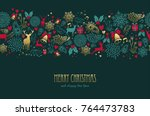 merry christmas happy new year... | Shutterstock .eps vector #764473783