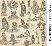 an hand drawn collection.... | Shutterstock . vector #764473816