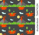 vector seamless pattern... | Shutterstock .eps vector #764474134