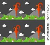 vector seamless pattern... | Shutterstock .eps vector #764474140