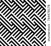 seamless pattern with striped... | Shutterstock .eps vector #764478178