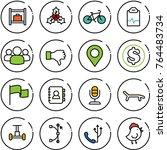 thin line vector icon set  ... | Shutterstock .eps vector #764483734