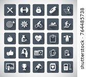 fitness icon set  | Shutterstock .eps vector #764485738
