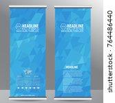 roll up business brochure flyer ...   Shutterstock .eps vector #764486440