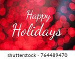 """text """"happy holidays"""" on red... 
