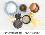 lace tablecloth with... | Shutterstock . vector #764492464