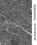 berlin city plan  detailed... | Shutterstock .eps vector #764495800