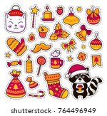 set of stickers  patches ... | Shutterstock .eps vector #764496949