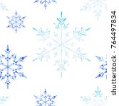 vector christmas and new year... | Shutterstock .eps vector #764497834
