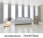 white room interior. home... | Shutterstock . vector #764497864