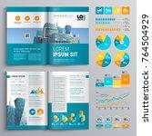 business brochure template... | Shutterstock .eps vector #764504929