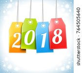 happy new year greetings card... | Shutterstock .eps vector #764505640