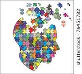 Stock vector mind exploding ideas 76451782