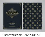 christmas greeting card design. ...   Shutterstock .eps vector #764518168