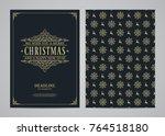 christmas greeting card design. ... | Shutterstock .eps vector #764518180