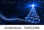 shining christmas tree stock... | Shutterstock . vector #764522386