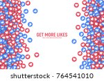 vector 3d social network like... | Shutterstock .eps vector #764541010