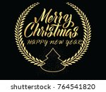 merry christmas new year.vector | Shutterstock .eps vector #764541820