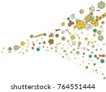 abstract background on a theme... | Shutterstock .eps vector #764551444