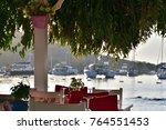 fish restaurant in gumusluk | Shutterstock . vector #764551453