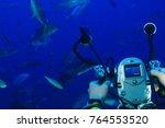 underwater video camera... | Shutterstock . vector #764553520