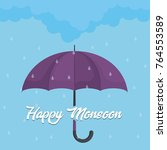 happy monsoon colorful design... | Shutterstock .eps vector #764553589