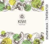 Background With Kiwi Fruit And...