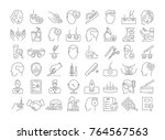 vector graphic set. icons in... | Shutterstock .eps vector #764567563