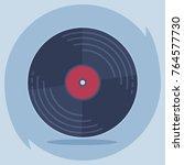 vinyl record disc. logo for web ... | Shutterstock .eps vector #764577730
