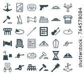 set of 36 antique filled and...   Shutterstock .eps vector #764578084