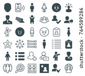set of 36 user filled and... | Shutterstock .eps vector #764589286